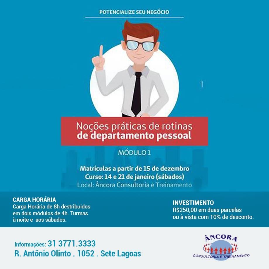 ROTINAS DE DEPARTAMENTO PESSOAL